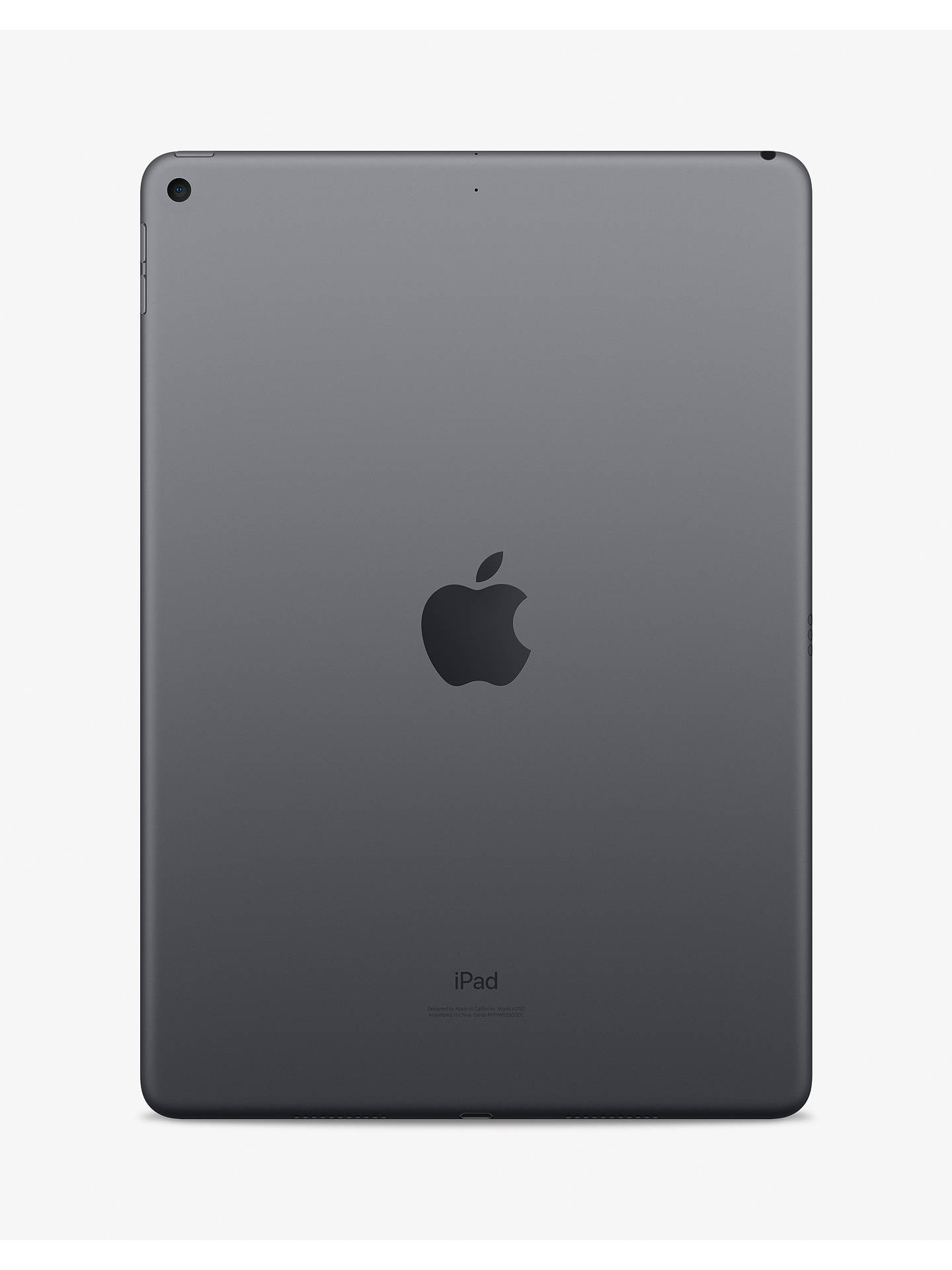 "Buy 2019 Apple iPad Air 10.5"", A12 Bionic, iOS, Wi-Fi, 64GB, Space Grey Online at johnlewis.com"