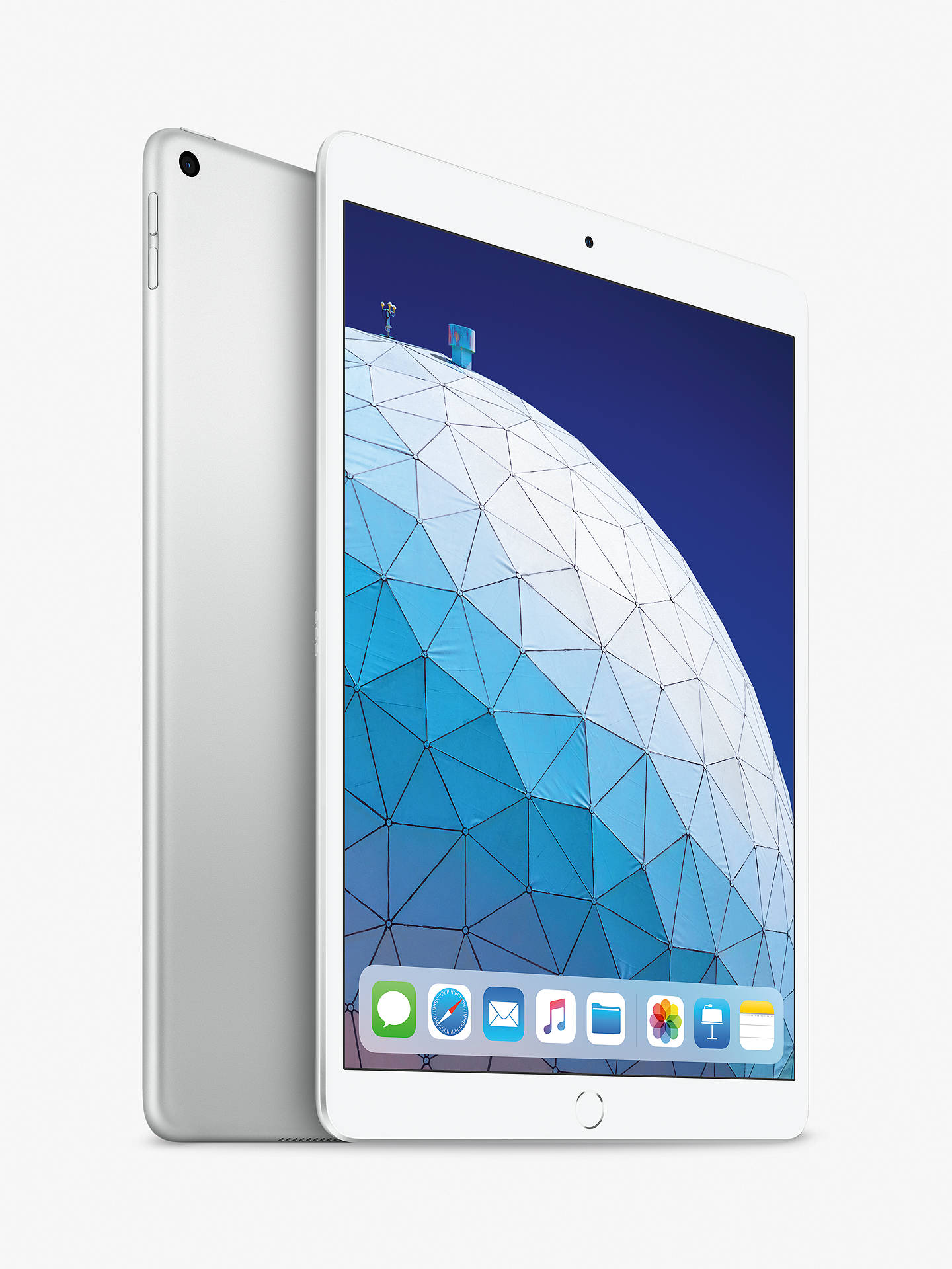 "Buy 2019 Apple iPad Air 10.5"", A12 Bionic, iOS, Wi-Fi, 256GB, Silver Online at johnlewis.com"