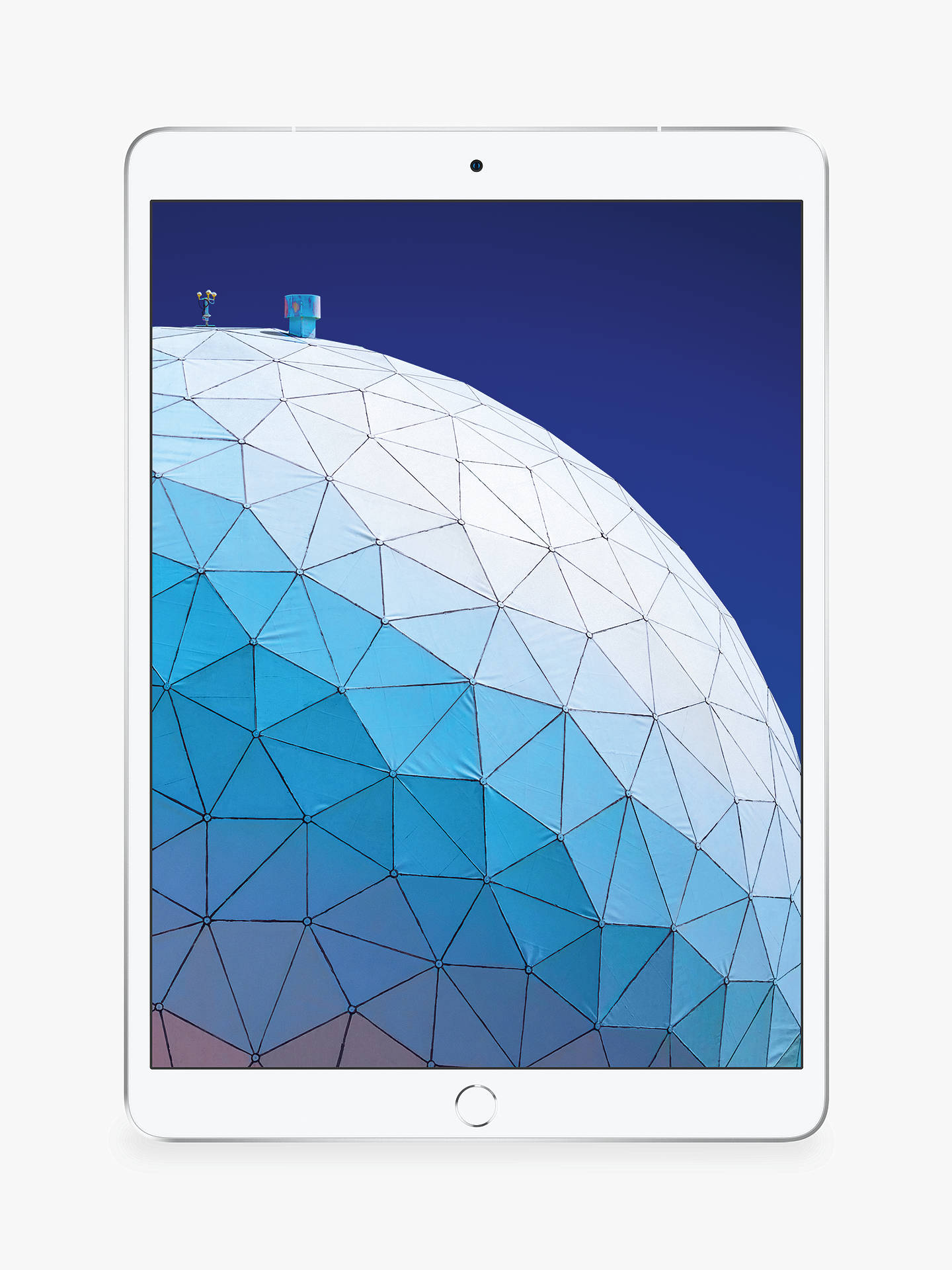 "Buy 2019 Apple iPad Air 10.5"", A12 Bionic, iOS, Wi-Fi & Cellular, 256GB, Silver Online at johnlewis.com"