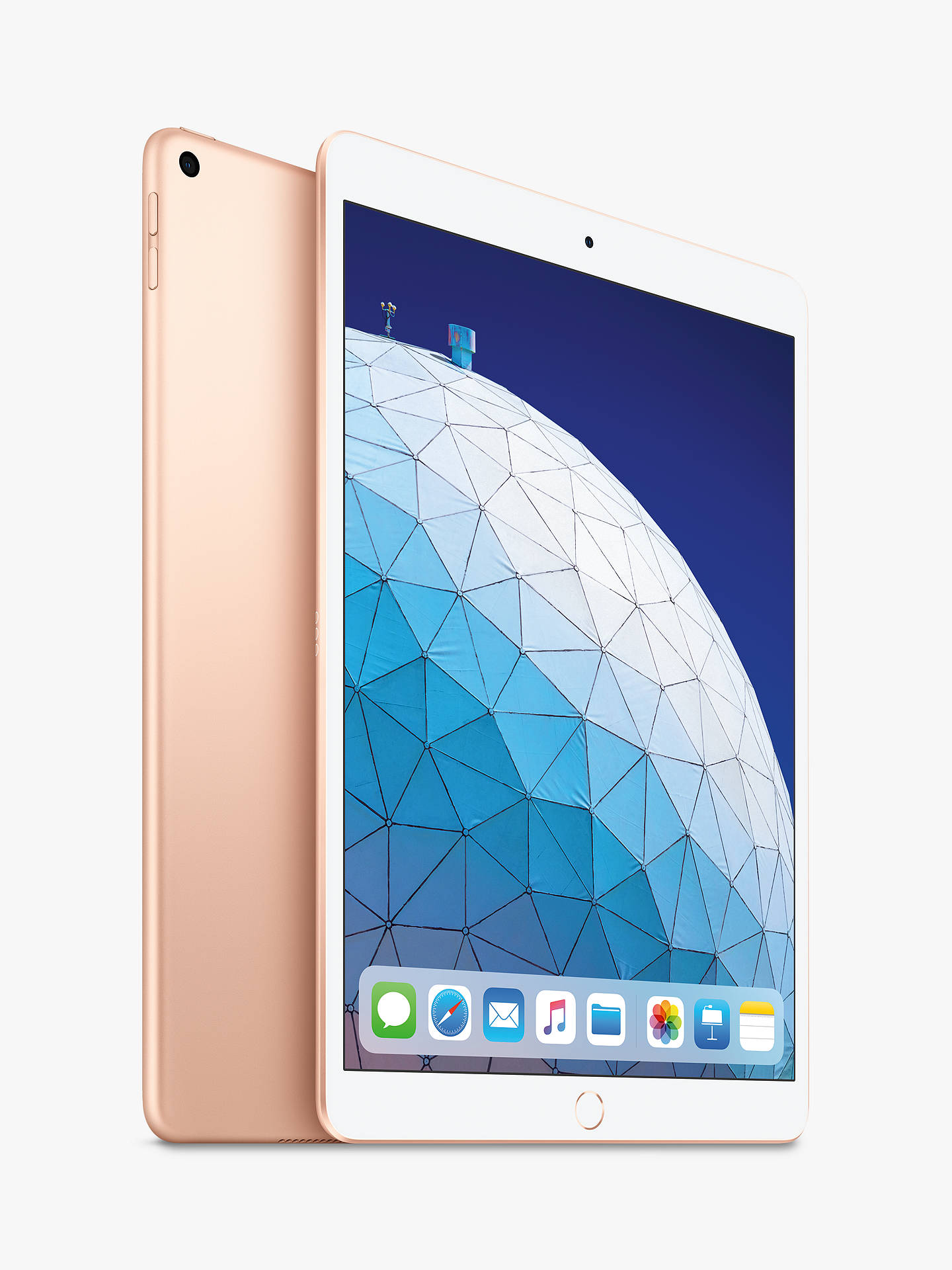 "Buy 2019 Apple iPad Air 10.5"", A12 Bionic, iOS, Wi-Fi, 256GB, Gold Online at johnlewis.com"