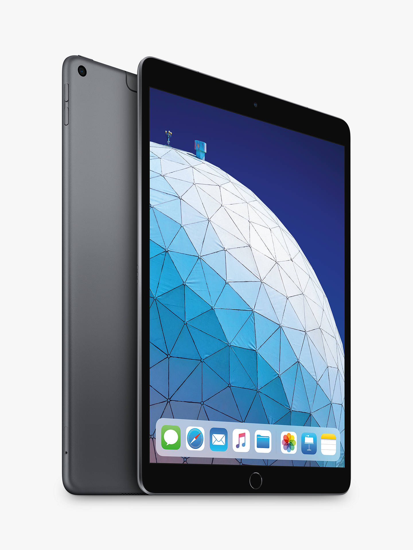 "Buy 2019 Apple iPad Air 10.5"", A12 Bionic, iOS, Wi-Fi & Cellular, 256GB, Space Grey Online at johnlewis.com"