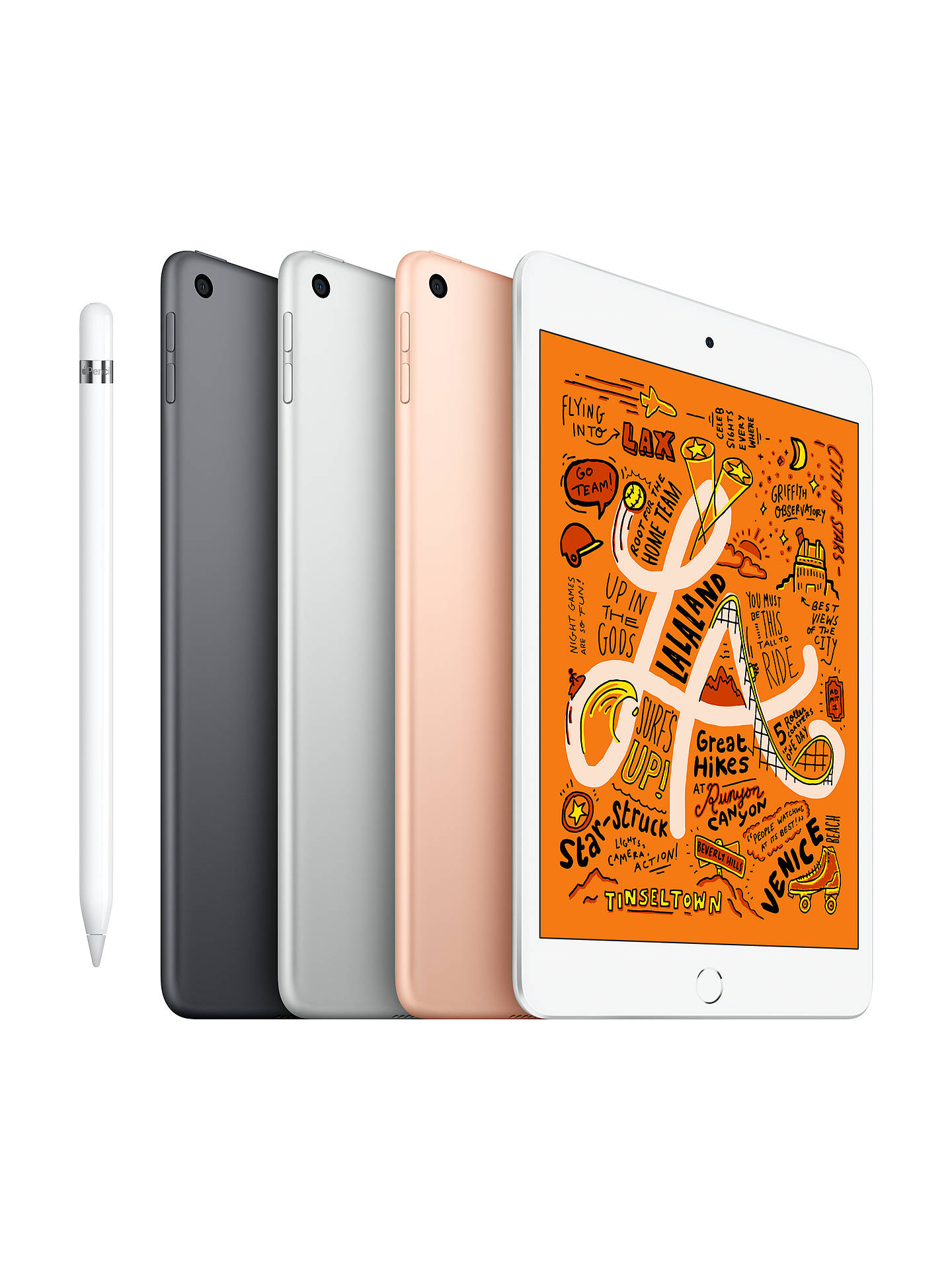 "Buy 2019 Apple iPad mini, Apple A12, iOS, 7.9"", Wi-Fi, 256GB, Space Grey Online at johnlewis.com"