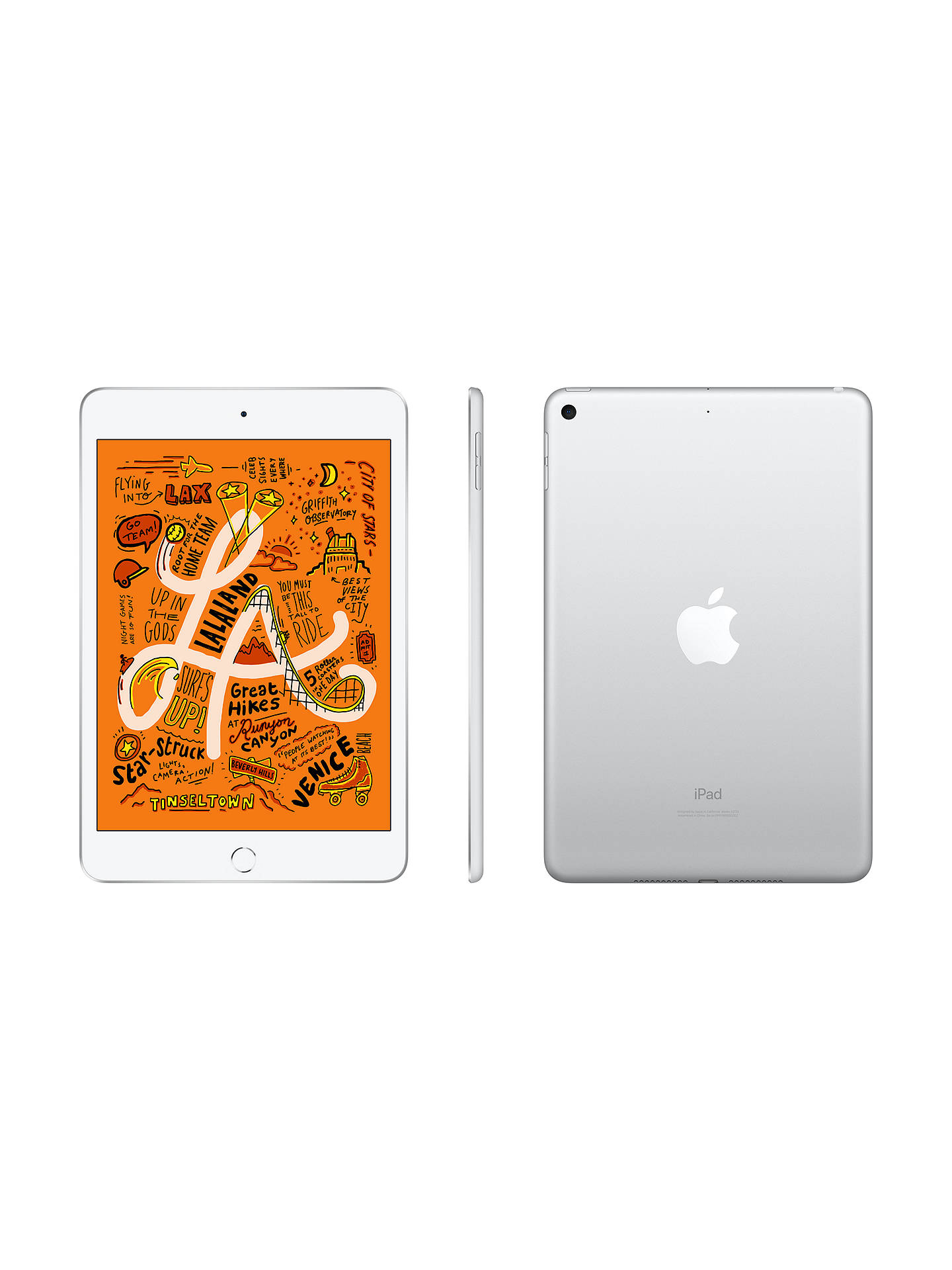 "Buy 2019 Apple iPad mini, Apple A12, iOS, 7.9"", Wi-Fi, 64GB,Silver Online at johnlewis.com"