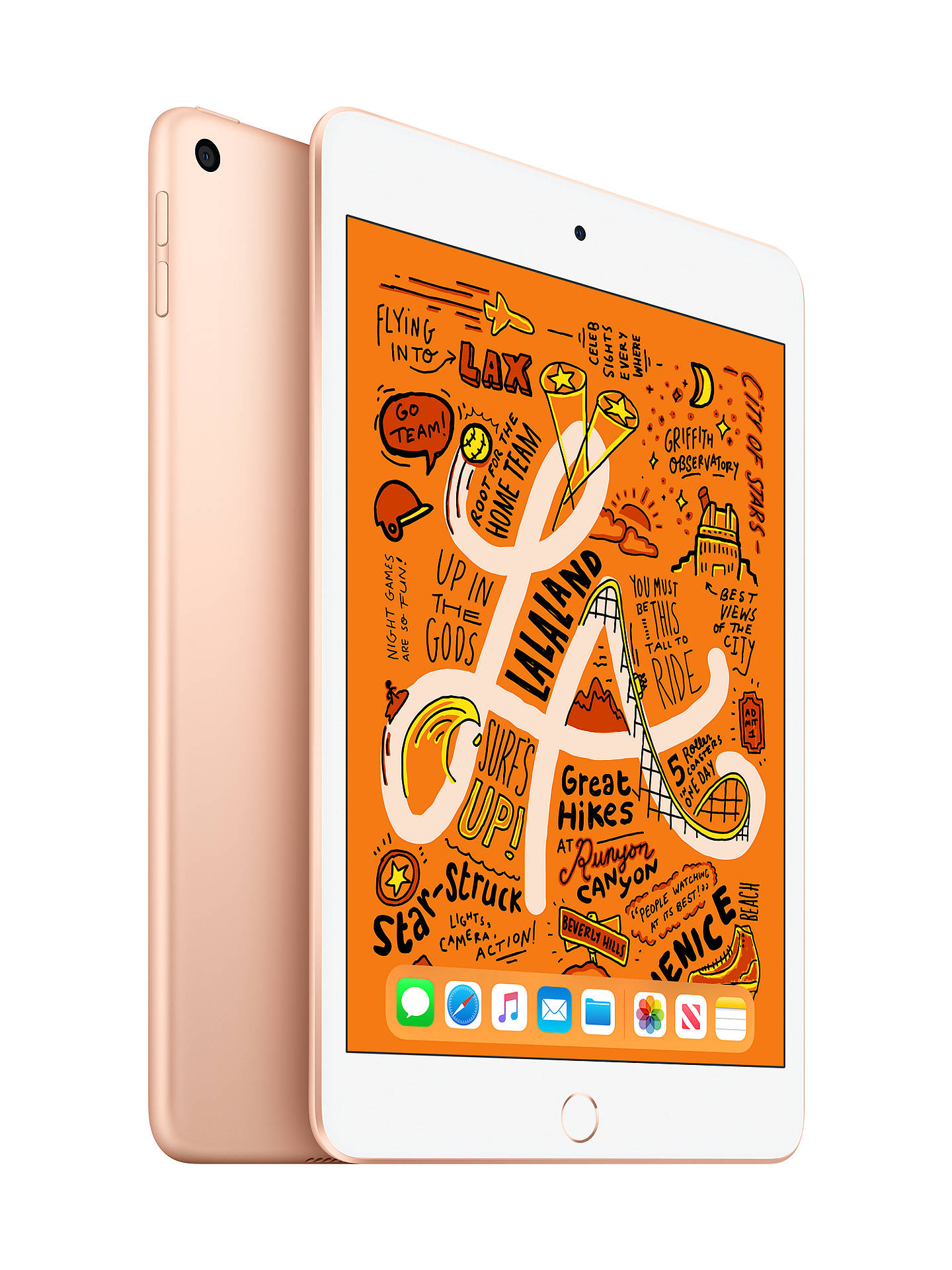 "Buy 2019 Apple iPad mini, Apple A12, iOS, 7.9"", Wi-Fi, 256GB, Gold Online at johnlewis.com"