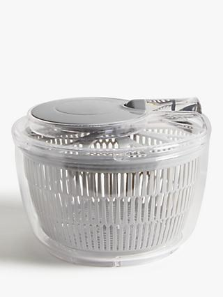 John Lewis & Partners Small Salad Spinner, Grey