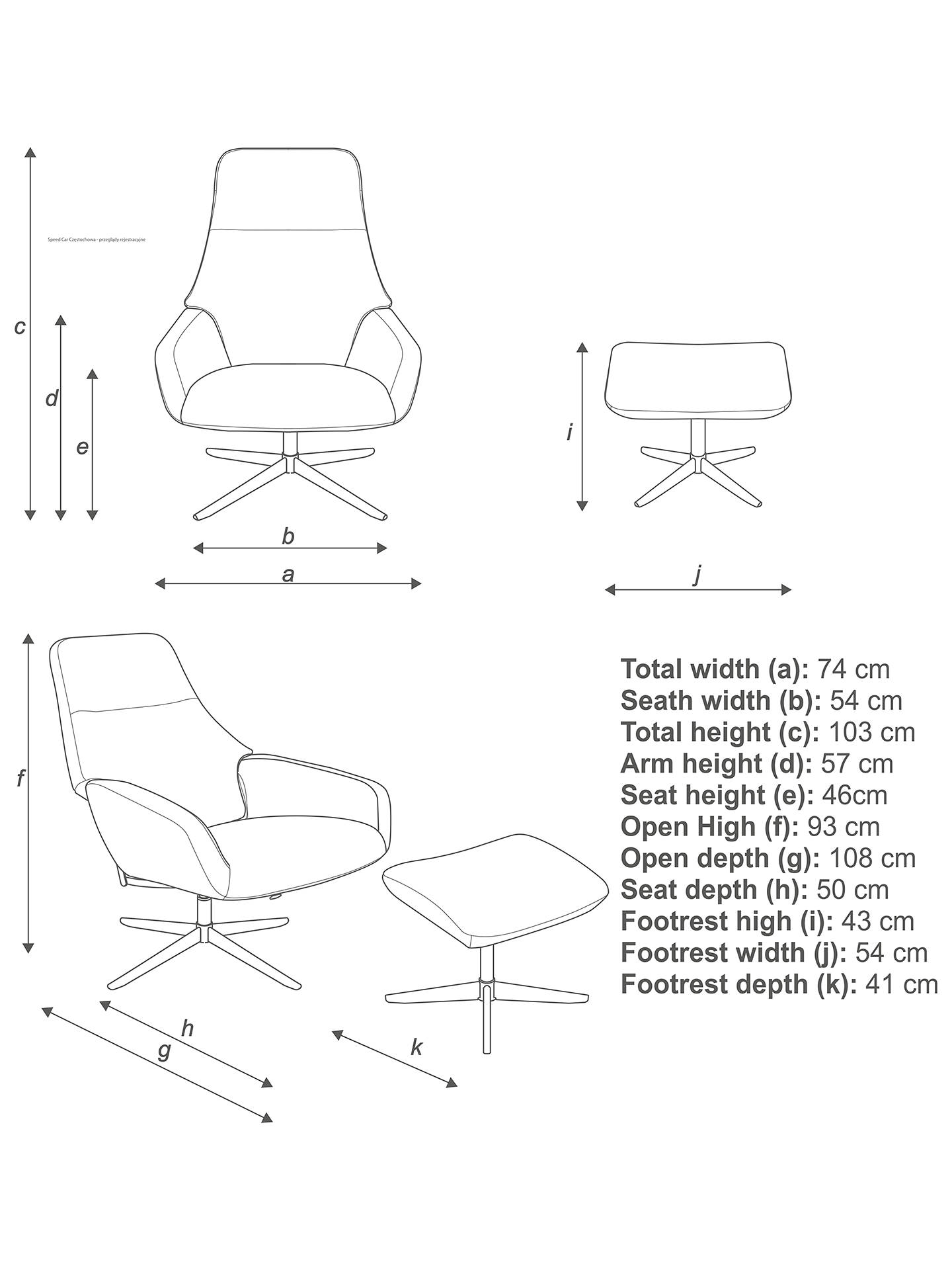 Design Project by John Lewis No.122 Reclining Chair with Footstool, Club Royal Taupe