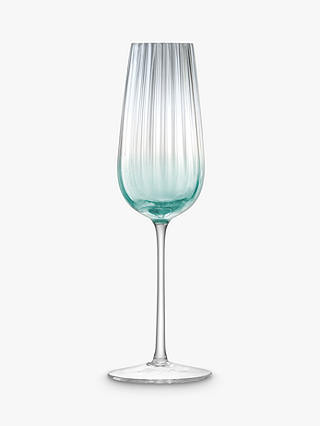 Buy LSA International Dusk Champagne Flutes, 250ml, Set of 2, Green/Grey Online at johnlewis.com