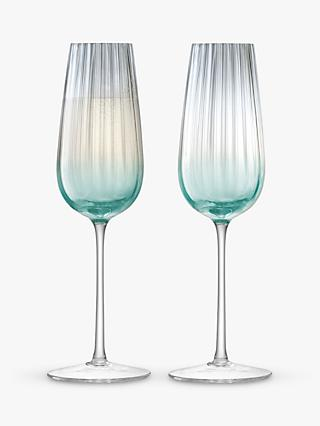 LSA International Dusk Champagne Flutes, 250ml, Set of 2