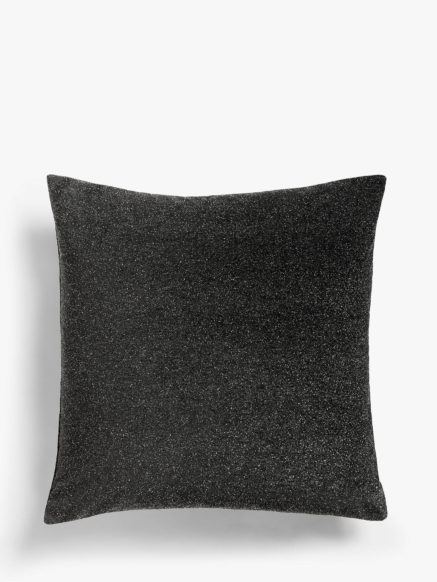 Buy John Lewis & Partners Misano Sparkle Cushion, Graphite Online at johnlewis.com