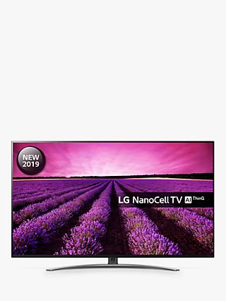 "LG 49SM8600PLA (2019) LED HDR NanoCell 4K Ultra HD Smart TV, 49"" with Freeview Play/Freesat HD, Cinema Screen Design, Dolby Atmos & Crescent Stand, Ultra HD Certified, Black & Dark Silver"