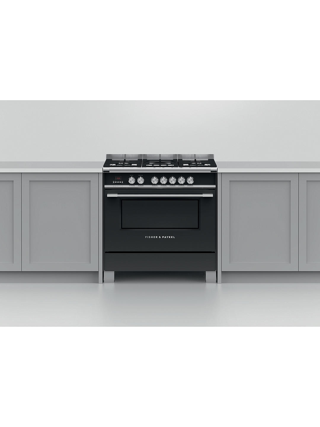 Buy Fisher & Paykel OR90SCG4B1 Dual Fuel Range Cooker, A Energy Rating, Black Online at johnlewis.com
