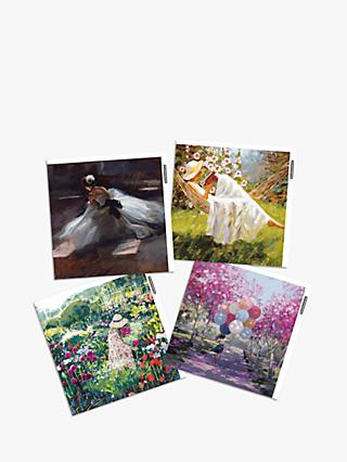 Woodmansterne Female Art Blank Greeting Cards, Pack of 4