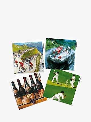 Woodmansterne Sporting Life Blank Greeting Cards, Pack of 4
