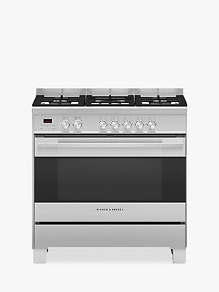 Fisher & Paykel OR90SCG4 Dual Fuel Range Cooker, A Energy Rating, Black