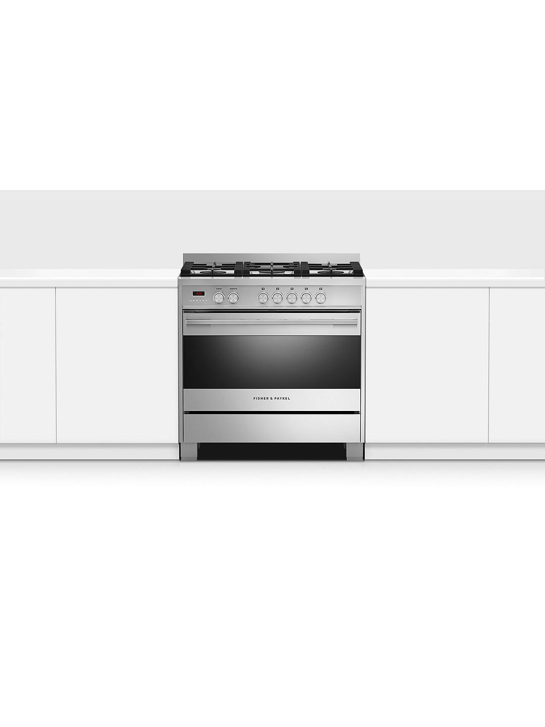 Buy Fisher & Paykel OR90SDG4X1 Single Dual Fuel Cooker, A Energy Rating, Stainless Steel Online at johnlewis.com