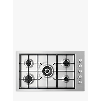 Fisher & Paykel CG905DWNGFCX3 90cm Gas Hob, Stainless Steel