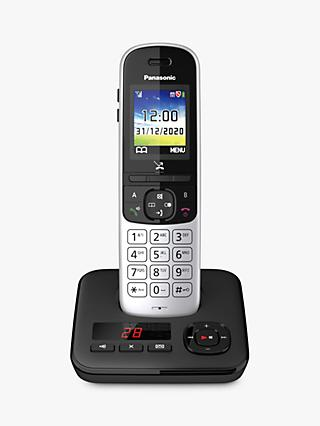 Panasonic KX-TGH720ES Digital Cordless Telephone with Automated Call Block and Answering Machine, Single Dect, Silver