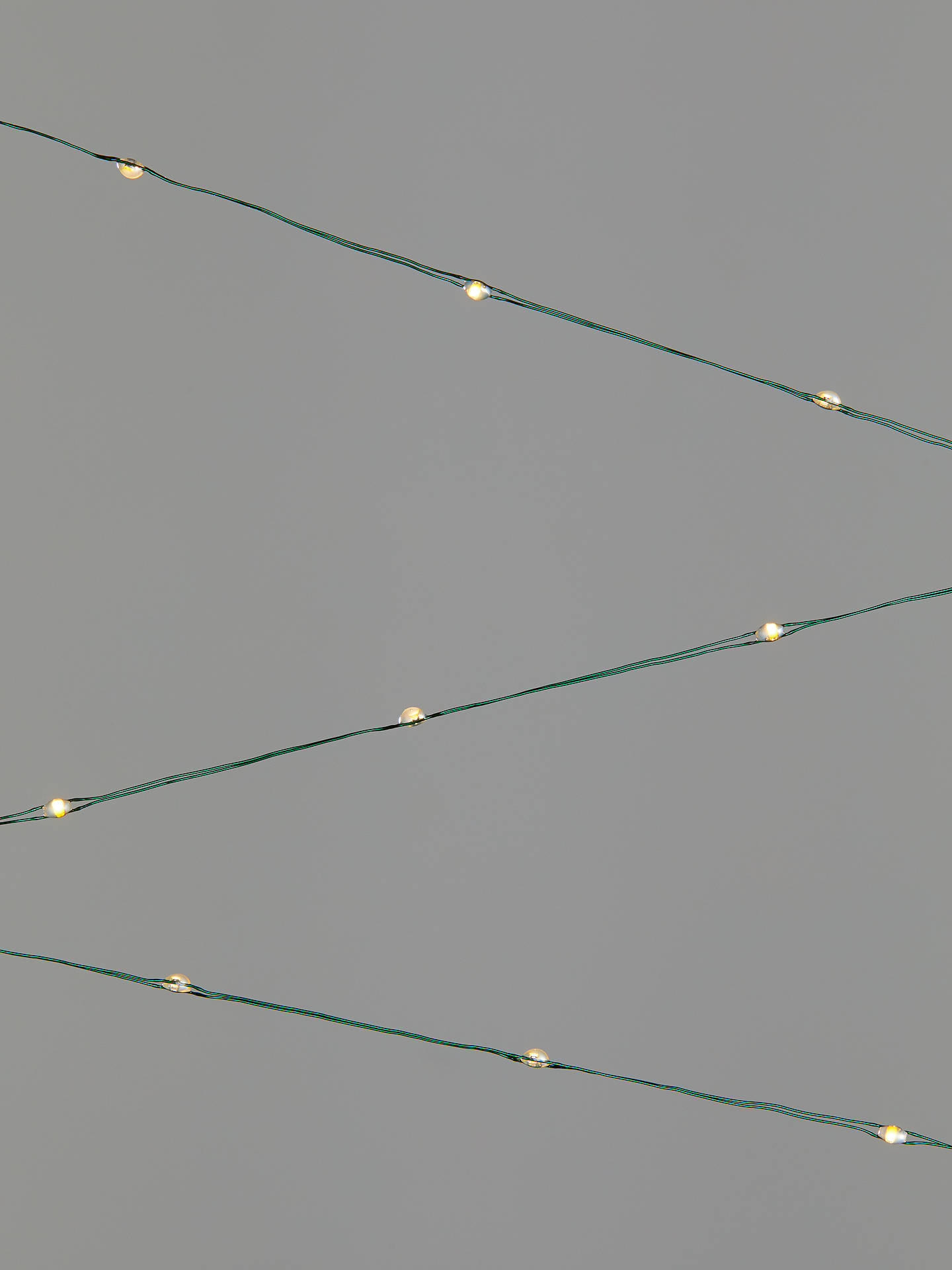 John Lewis Partners 60 Micro Led Lights Pure White Green Wire L4m