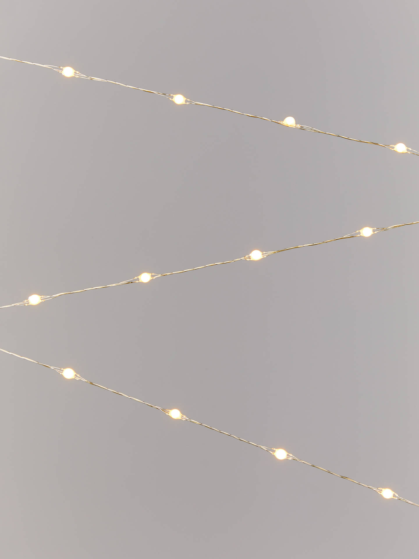 Buy John Lewis & Partners 160 LED Lights, Gold / Warm White, 16m Online at johnlewis.com