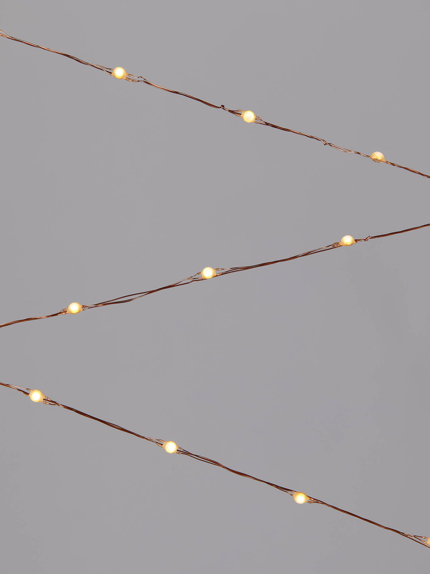 Buy John Lewis & Partners 320 LED Lights, Copper / Pure White, 24m Online at johnlewis.com