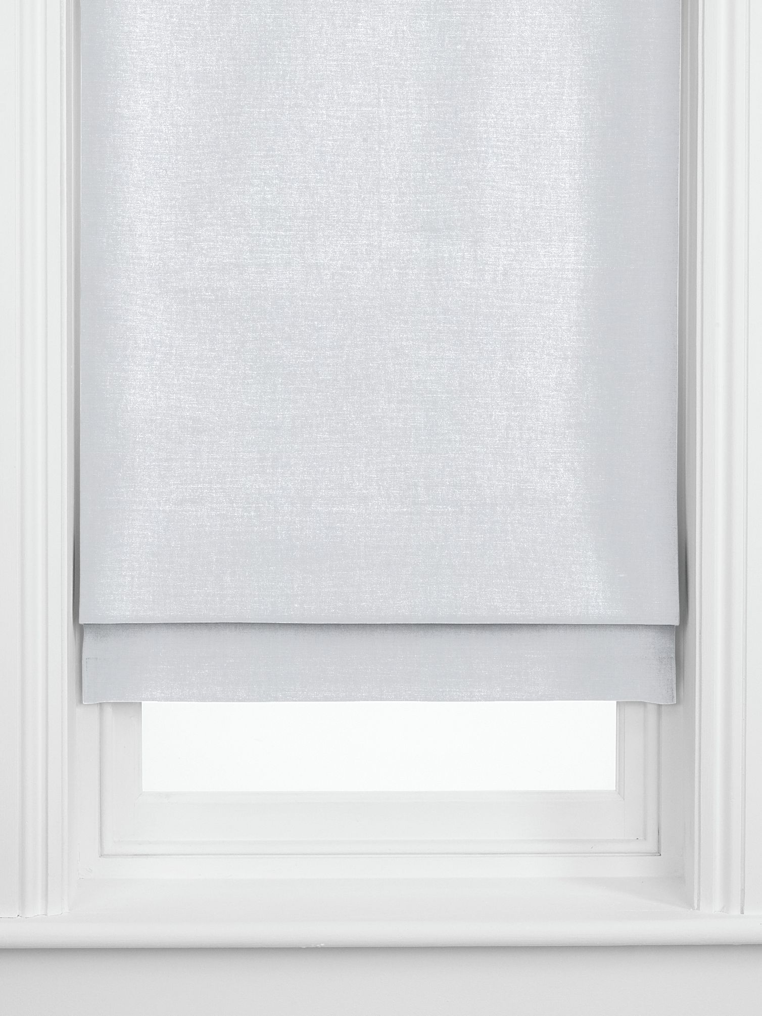 John Lewis Partners Pure Linen Made To Measure Roman Blind Silver At John Lewis Partners