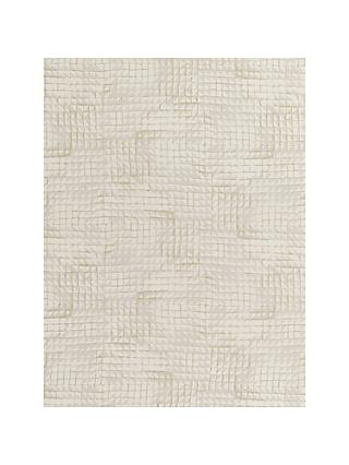 John Lewis & Partners Loki Squares Made to Measure Curtains, Champagne