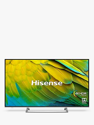 "Hisense H65B7500UK (2019) LED HDR 4K Ultra HD Smart TV, 65"" with Freeview Play, Black/Silver"