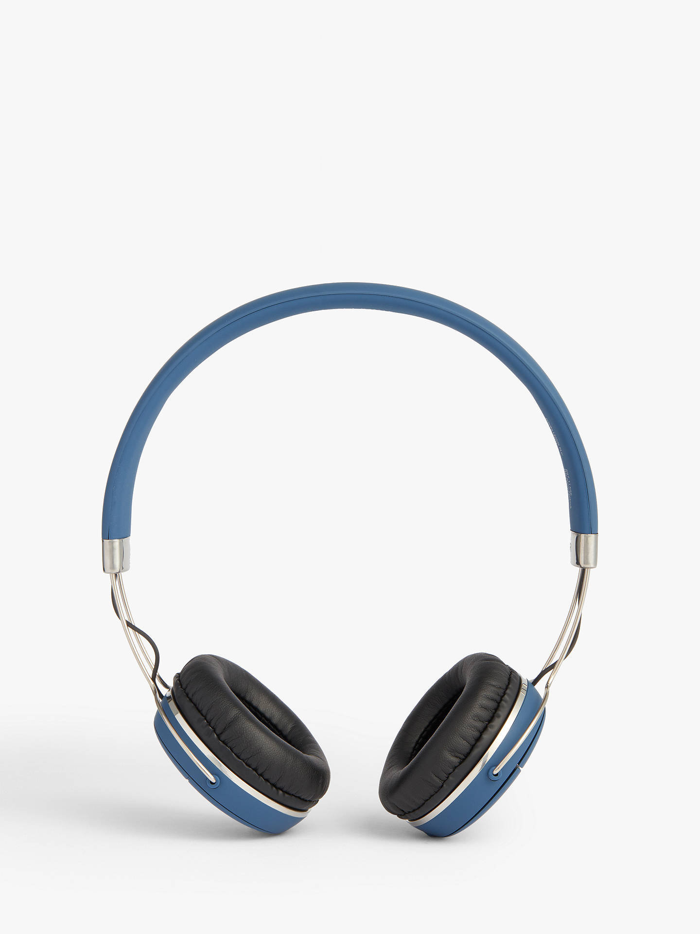 Buy John Lewis & Partners H2 Wireless On-Ear Headphones with Mic/Remote, Blue Online at johnlewis.com