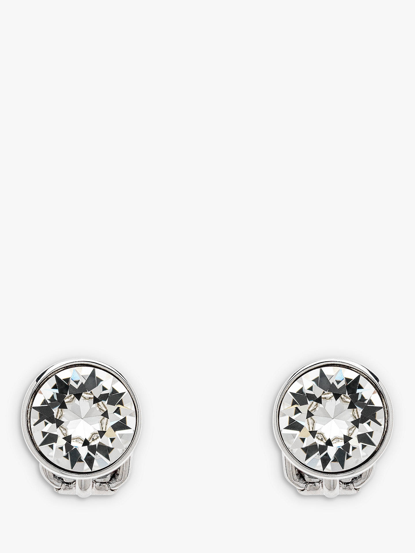 6e97c89a5 Buy Emma Holland Classic Swarovski Crystal Clip-On Stud Earrings, Silver  Online at johnlewis