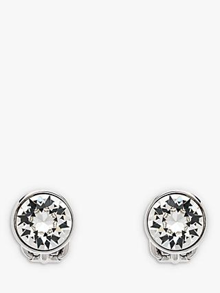 Emma Holland Classic Swarovski Crystal Clip-On Stud Earrings, Silver