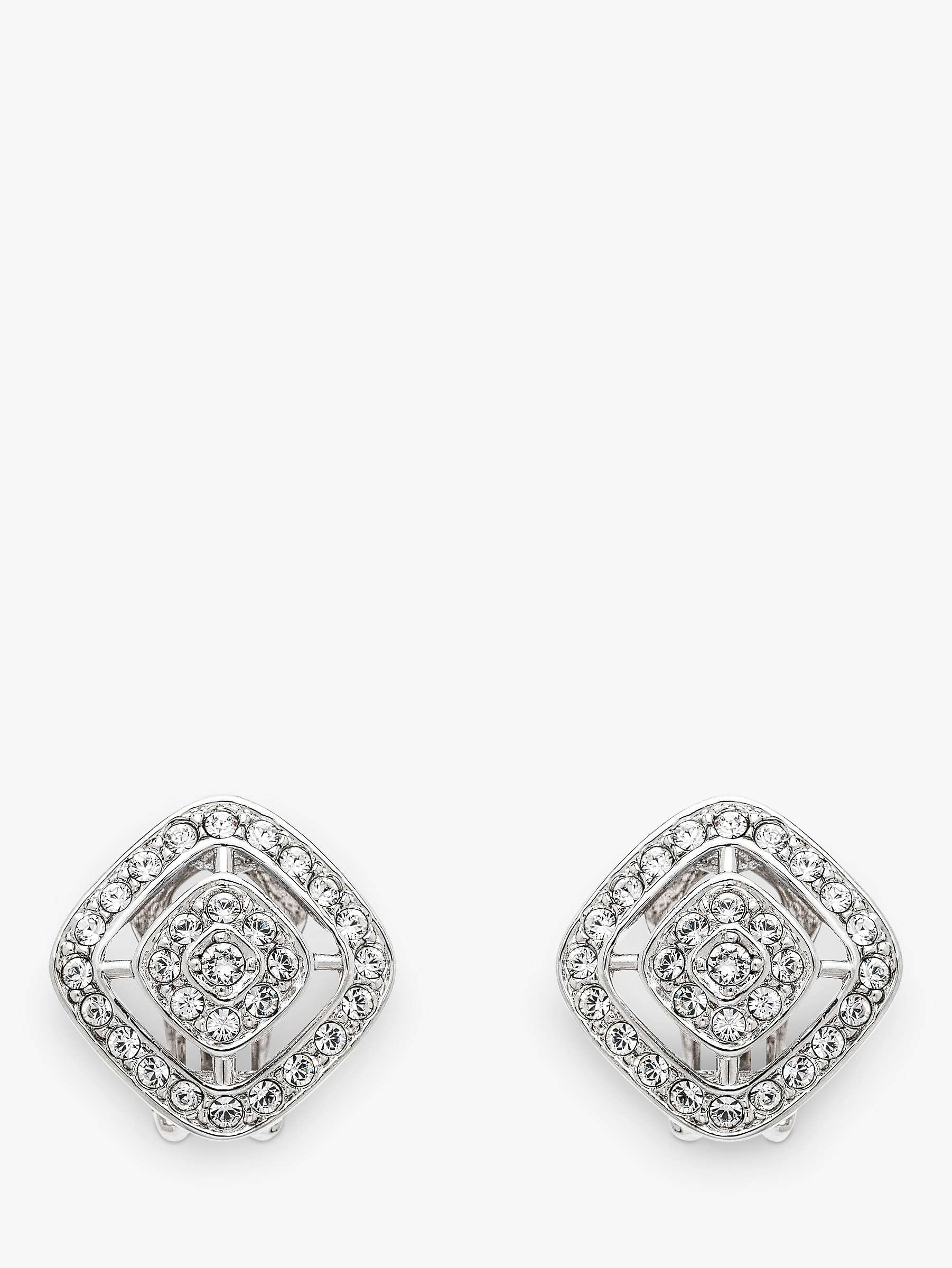Emma Holland Swarovski Crystal Diamond Shape Clip On Stud