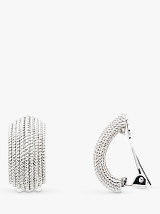 Emma Holland Textured Curve Clip-On Stud Earrings