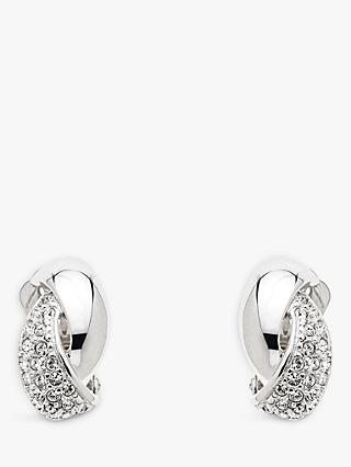 Emma Holland Swarovski Crystal Twist Clip-On Stud Earrings