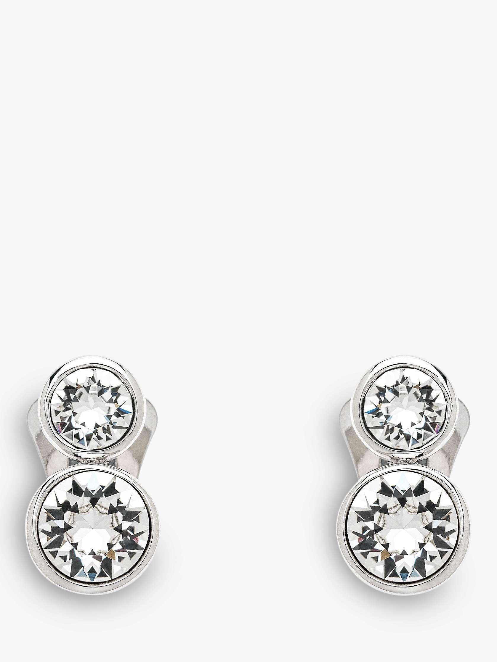Emma Holland Double Swarovski Crystal Clip On Stud Earrings
