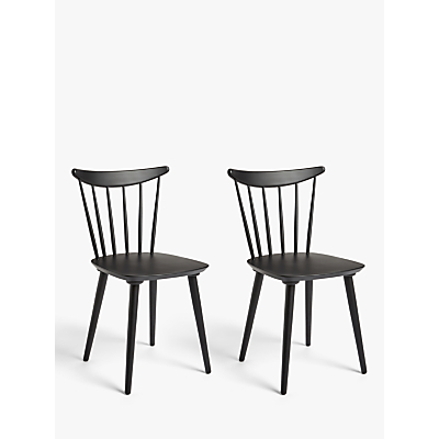 House by John Lewis Spindle Dining Chair, Set of 2, FSC Certified (Beech)