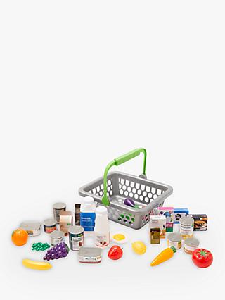 John Lewis & Partners Grocery Basket and Play Food