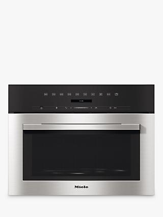 Miele M7140TC 46L Built-In Microwave, Clean Steel
