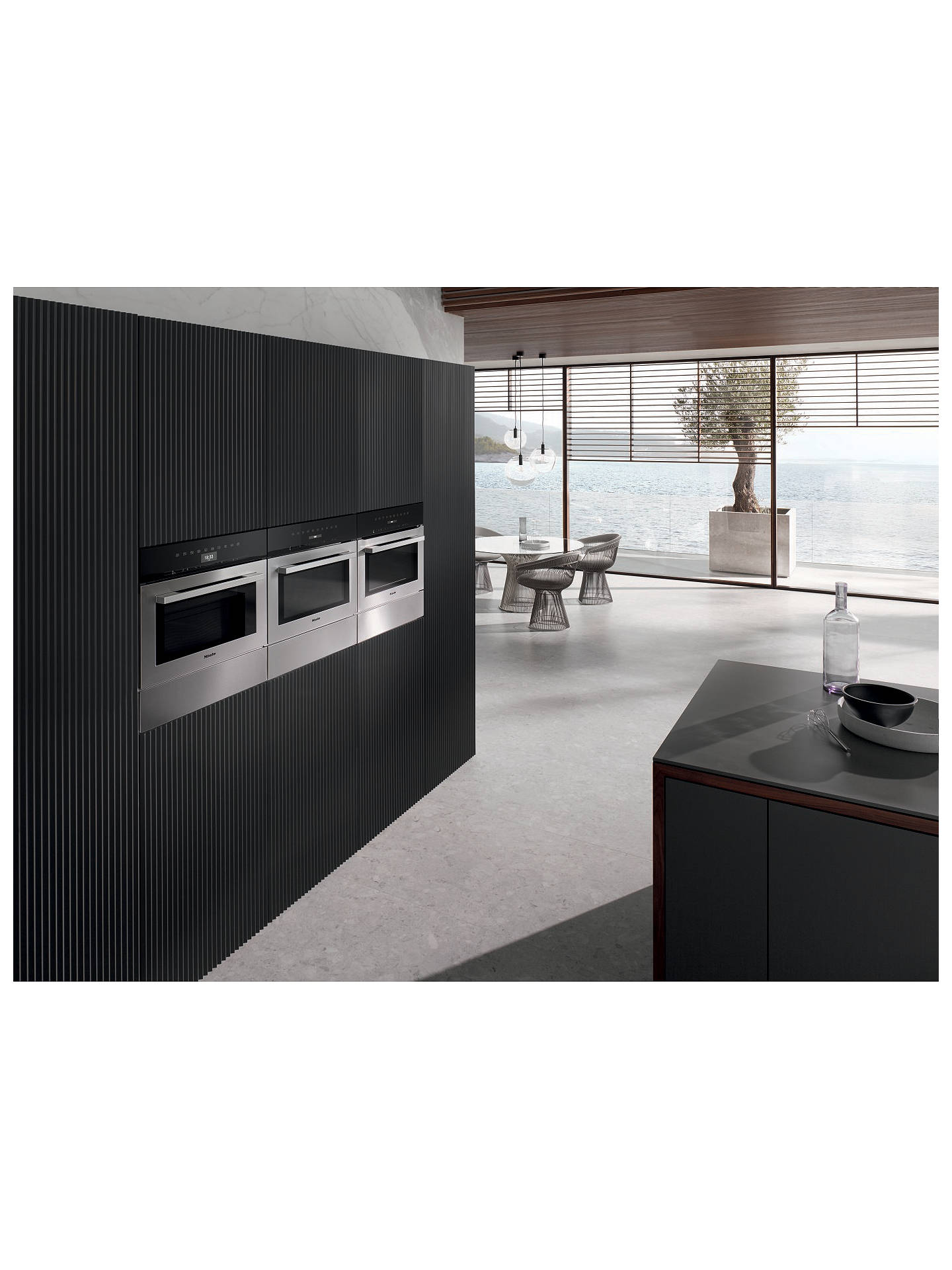 Buy Miele M7140TC 46L Built-In Microwave, Clean Steel Online at johnlewis.com
