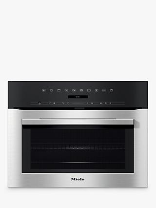 Miele H7140BM Built-In Combination Microwave Oven, Clean Steel