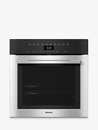 Miele H7364BP Built-In Single Oven, Clean Steel