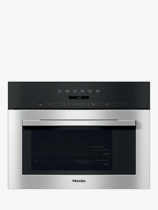 Miele DG7140 Integrated Single Steam Oven, Clean Steel