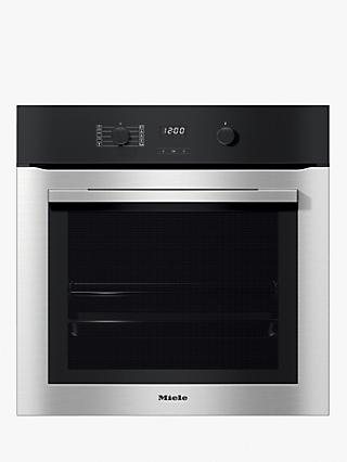Miele H2760BP Built-In Pyrolytic Single Electric Oven, A+ Energy Rating, Clean Steel