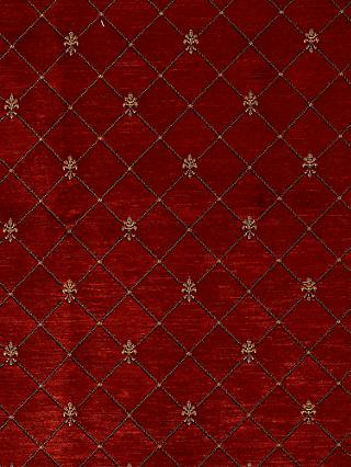 John Lewis & Partners Regal Made to Measure Curtains or Roman Blind, Claret