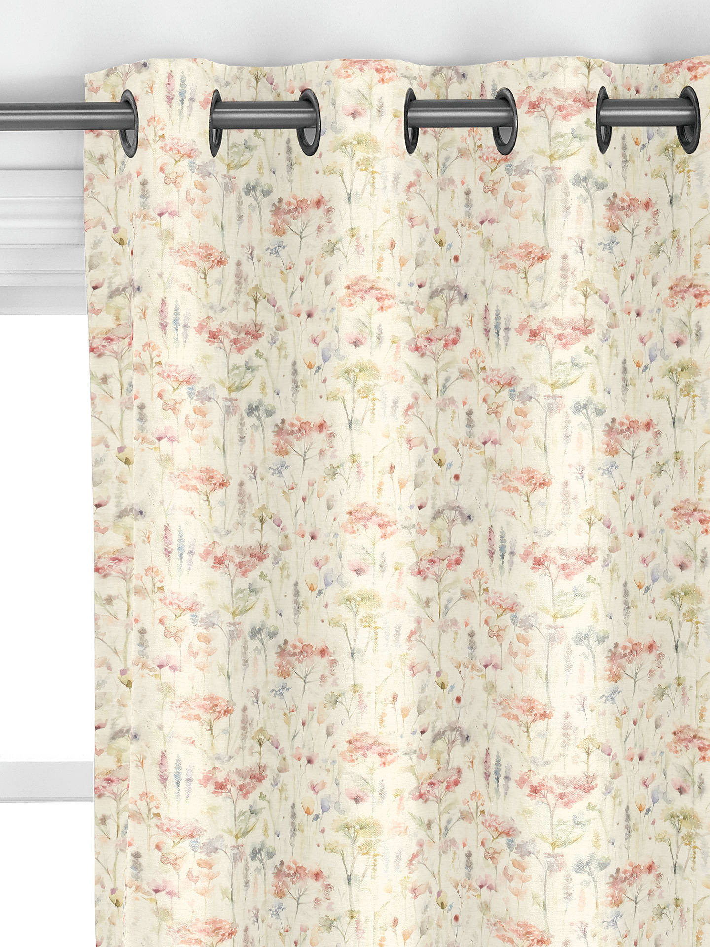 Voyage Hinton Poppy Linen Made To Measure Curtains At John