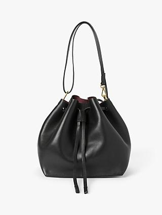 AND/OR Tulum Leather Drawstring Shoulder Bag