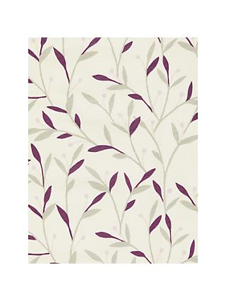John Lewis & Partners Bella Made to Measure Curtains or Roman Blind, Damson