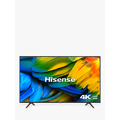 Hisense H65B7100UK (2019) LED HDR 4K Ultra HD Smart TV, 65 with Freeview Play, Black/Silver