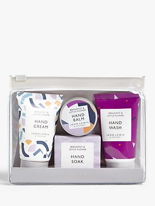 John Lewis & Partners Bergamot & Lotus Flower Hand Care Gift Set
