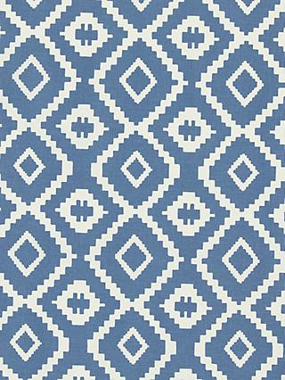 John Lewis & Partners Nazca Made to Measure Curtains, Blue