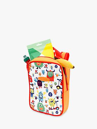 Micro Scooters Monster Lunch Bag, White/Multi
